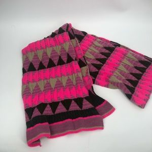 Bright Echo scarf.  Warm and cozy.  Bright pink